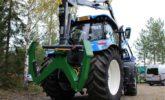 hydraulická ruka na traktoru