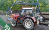 Hydraulická ruka a traktor
