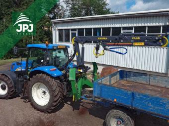 Hydraulická ruka, dosah 7 m, uchycení do 3 bodu, traktor New Holland