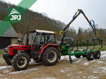 Traktor Zetor 7745 + vyvážečka Farma CT 6,3-9