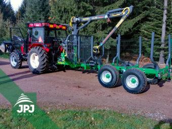 Vyvážečka Farma CT 4,6-7 S a Zetor 5245