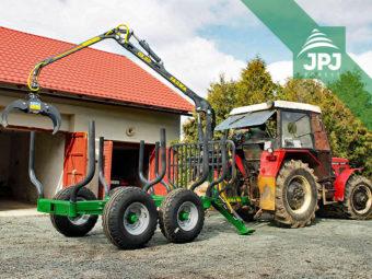 Zetor 7245 a traktorová vyvážečka Farma, nosnost 6 tun